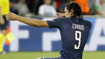 Paris Saint Germains Edinson Cavani zielte sehr gut und erzielte in der ersten Halbzeit gleich vier Tore