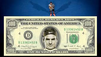 Roger Federer hat beim Karriere-Preisgeld nach Novak Djokovic die 100-Millionen-Grenze überschritten