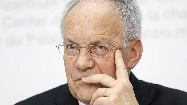 """Wirtschaftsminister Schneider-Ammann bezeichnete die Aussagen von SP-Chef als """"respektlos"""" (Archiv)."""