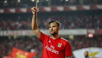 Haris Seferovic feiert seinen Treffer gegen Setubal
