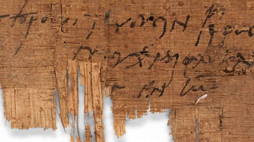 Die christliche Grussformel am Schluss des Briefs verrät die Gesinnung des Schreibenden. Der Papyrus befindet sich seit über 100 Jahren im Besitz der Universität Basel.