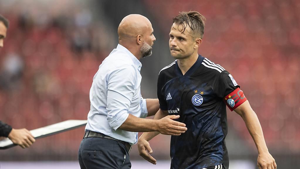 Auf Amir Abrashi muss GC-Trainer Giorgio Contini im Cupspiel in Widnau verzichten