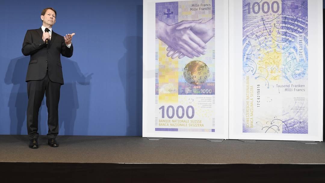 Die Präsentation der neuen 1000er-Note (5. März 2019)