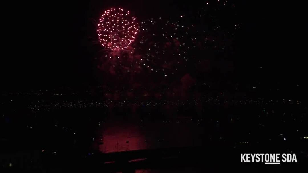 Züri Fäscht: So spektakulär war das erste Feuerwerk