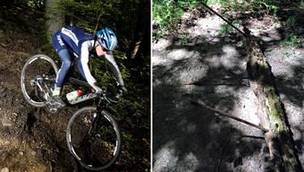 Unbekannte installieren in Gränichen Biker-Fallen