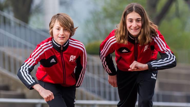 Nina und Valentina Rosamilia bereiten sich auf die neue Laufsaison vor.