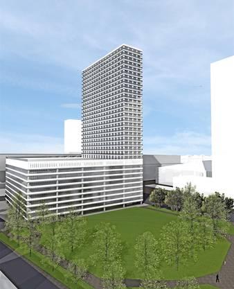 Appartmentturm neben Messeturm. Alexander Gärtner, TU Kaiserslautern
