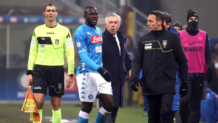 """Napoli-Trainer Ancelotti und sein ausgeschlossener Abwehrchef: """"Beim nächsten Mal verlassen wir das Spielfeld"""""""