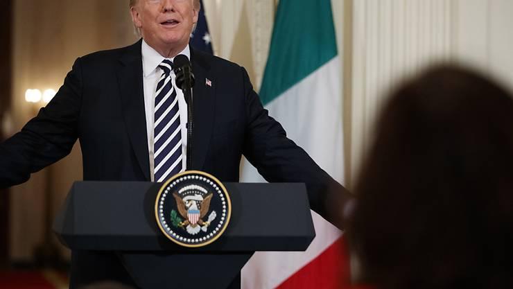 """""""Ich weiss nicht, ob sie schon bereit dazu sind"""": US-Präsident Donald Trump zu einem Treffen mit der iranischen Führung."""