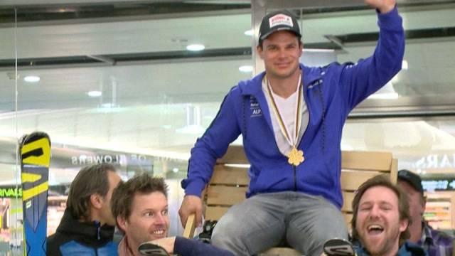 Grosser Empfang für Ski-Weltmeister