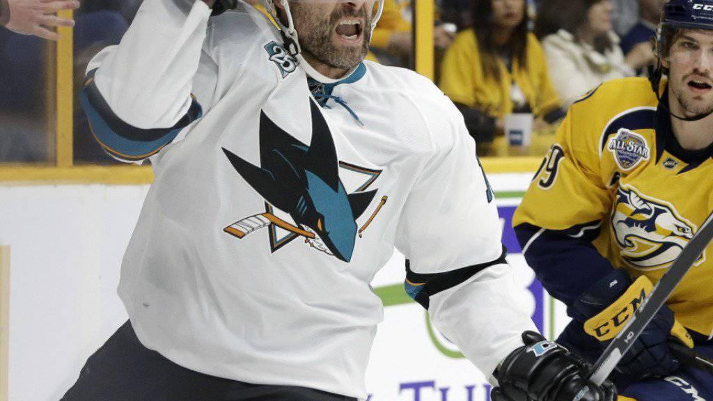 Nach 19 Jahren ist Schluss: Der Kanadier Patrick Marleau (37) verlässt die San Jose Sharks und wechselt zu den Toronto Maple Leafs
