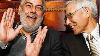 Der neue Regierungschef Benkirane (l.) und sein Kollege Lahssen Daoudi (Archiv)