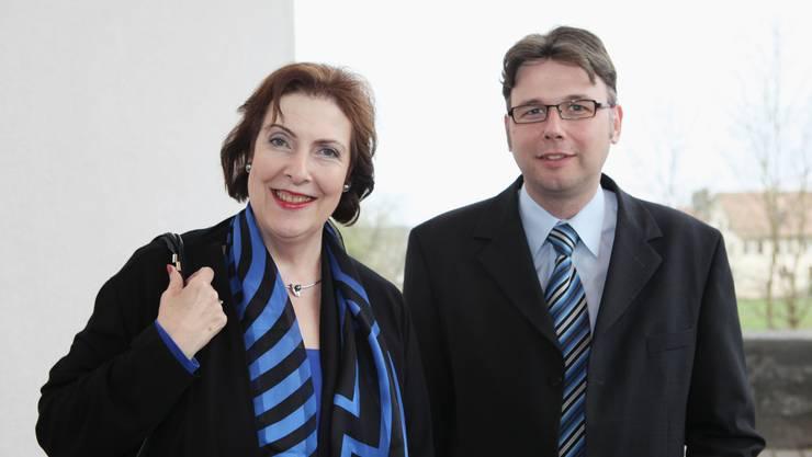 Ständerätin Christine Egerszegi und der SP-Fraktionschef im Grossen Rat, Dieter Egli.