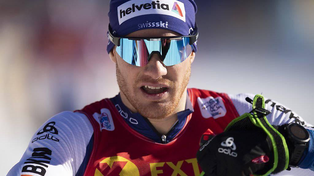 Dario Cologna kann im Kampf um einen Podiumsplatz in der Tour de Ski in Oberstdorf keine Zeit auf seine Konkurrenz gutmachen