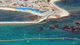 Für den Bau der neuen US-Militärbasis wird eine Bucht in Henko aufgeschüttet. (Archivbild)