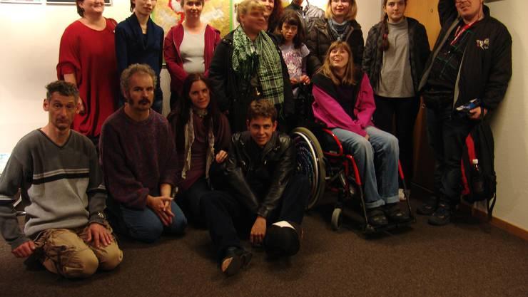 Die Mitglieder der Stiftung Solvita stellen ihre Werke aus