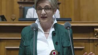 FDP-Fraktionschefin Gabi Huber spricht im Nationalrat (Archiv)