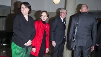 Regierungspräsidentin Elisabeth Ackermann (links) muss 2020 auf ihre Neujahrsansprache verzichten. Bild: Roland Schmid (Basel, 7.1.19)
