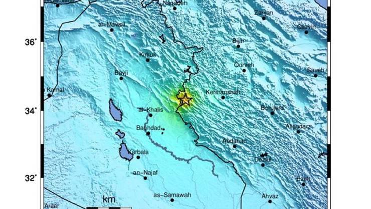 Im Westen Irans sind bei einem Erdbeben viele Menschen verletzt worden. (Bildquelle: United States Geological Survey)