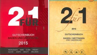 Das «Zweifach» (links) kann man zudem auf der Wettinger Gemeindeverwaltung, verschiedenen Poststellen und bei Info Baden kaufen, das «2 für 1» im Manor und im Thalia in Baden.