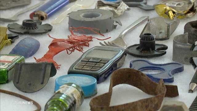 Kunstwerke aus Skipisten-Müll
