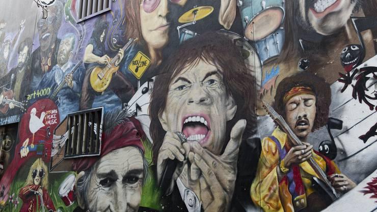 Das wohl bekannteste Streetart-Werk in Basel:  Rockstars, Art 4000, Marc Bell am Gerbergässlein.