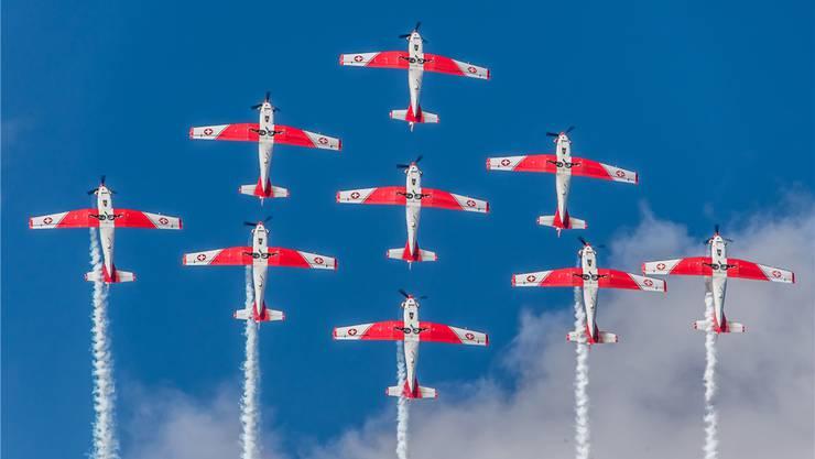 Das PC-7-Team fliegt fürs Villmerger Jugendfest 2018. zvg/Chris Berger