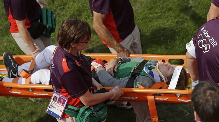 Die Brasilianerin Squel Stein verletzte sich bei ihrem Sturz, noch ist unklar wie es um ihren Gesundheitszustand steht