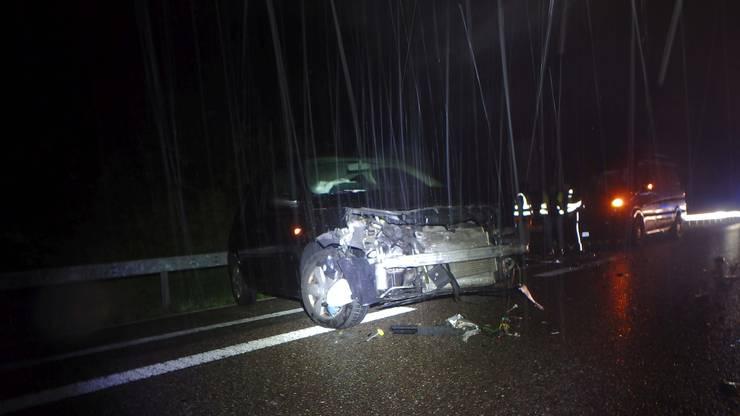 Am Renault Mégane entstand Totalschaden.