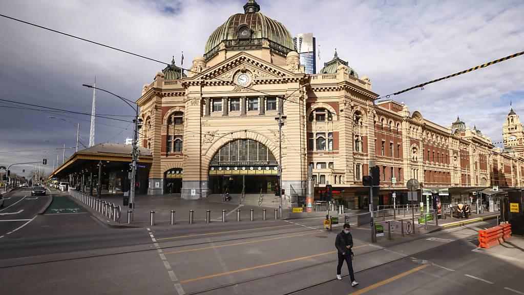 Derzeit ist in Melbourne kaum jemand auf der Strasse.