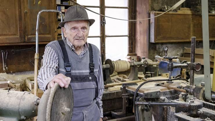 Der 95-jährige Ziefner Hans Schlumpf...