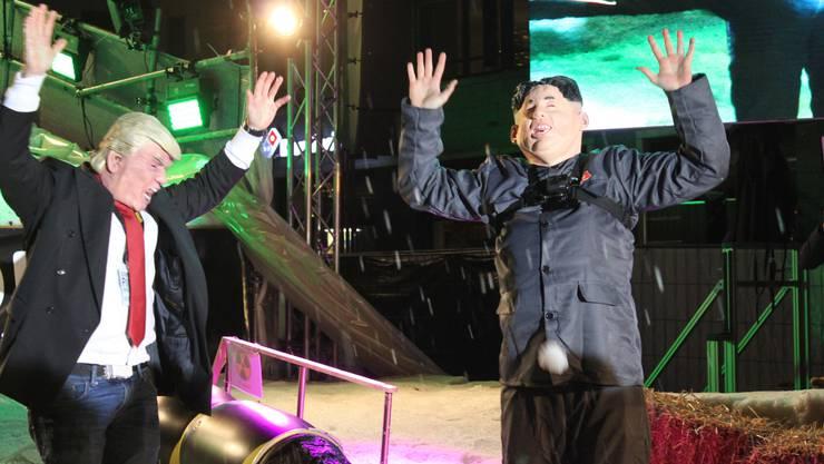 Unheilige Allianz: Donald Trump und Kim Jong-un setzten sich Severin Wyssling und Alain Joss gekonnt in Szene.