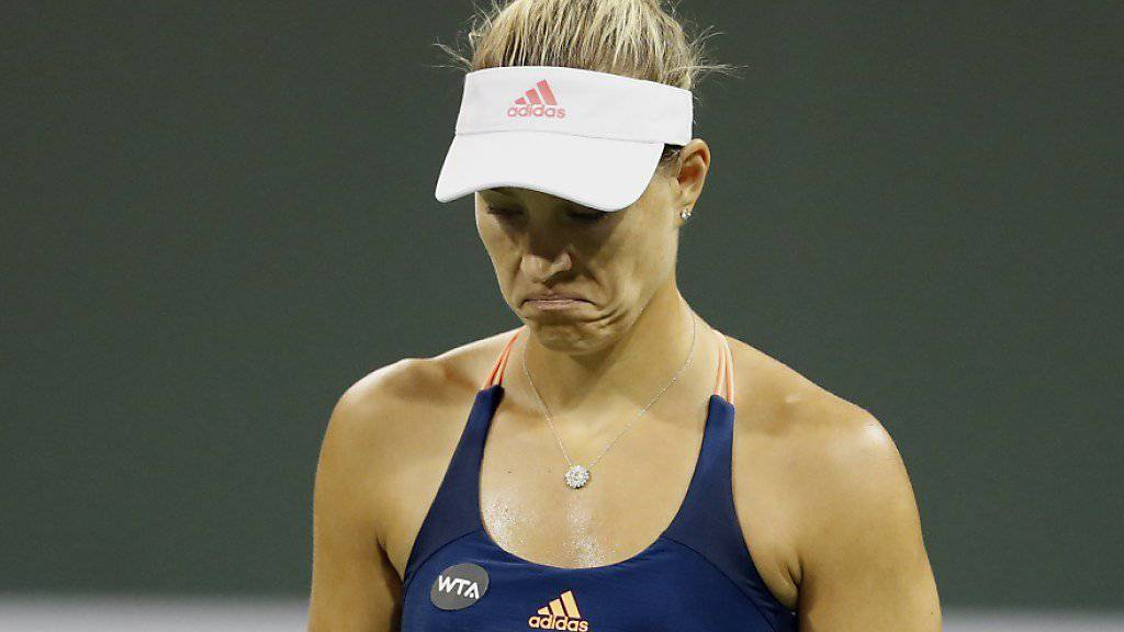 Kein Spass: Die neue Nummer 1 Angelique Kerber scheiterte auch in Indian Wells vorzeitig