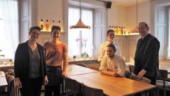 Das neue Team (v.l.): Nicole Lüthy, Tanja Stingelin, Selina Rigoni, Lukas Müller und Robert Schuler. Es fehlt: Lorenz Humbel.