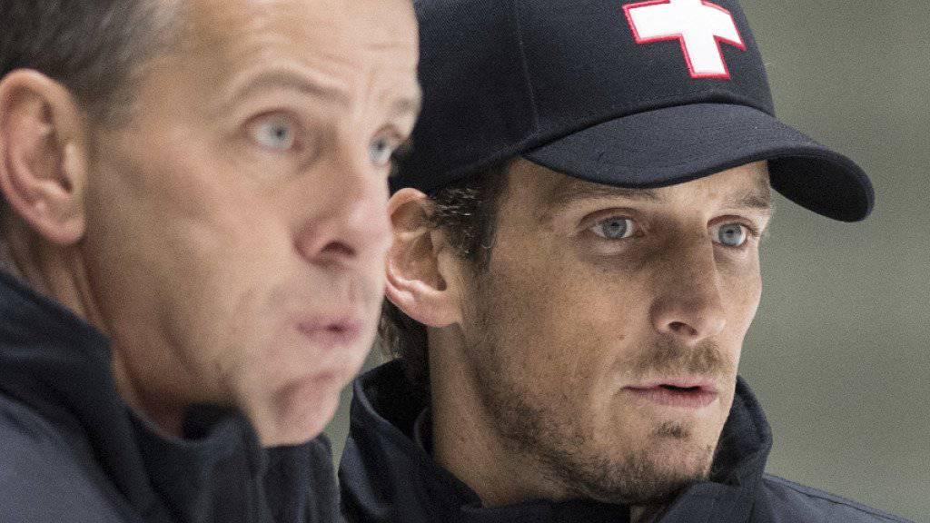 Bringen Patrick Fischer (rechts) und Assistent Tommy Albelin die Schweizer Nationalmannschaft wieder auf Kurs?