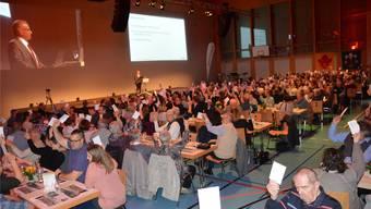 Die Beschlüsse an der Generalversammlung der Raiffeisenbank Laufenburg wurden durchweg einstimmig gefasst. hgr