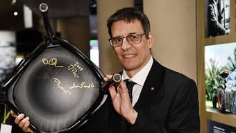Der Schweizer Nobelpreisträger für Physik, Didier Queloz, sprach per Videokonferenz mit ISS-Astronauten. (Archivbild)