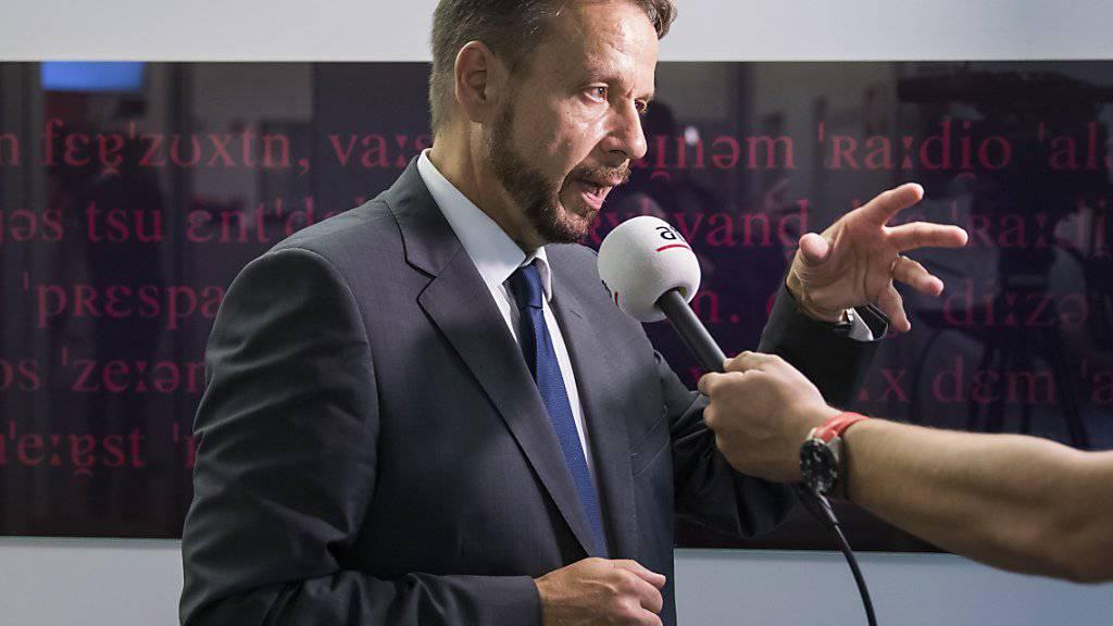 """""""Wir zeihen nicht aus Bern weg"""": SRG-Generaldirektor Gilles Marchand. (Archivbild)"""