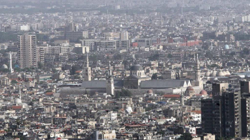 Blick auf Damaskus, wo es am Montag erneut schwere Kämpfe gab. (Archivbild)