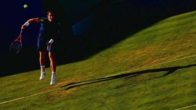 Andy Murray will auf dem Rasen von Wimbledon Geschichte schreiben. Foto: Ella Ling