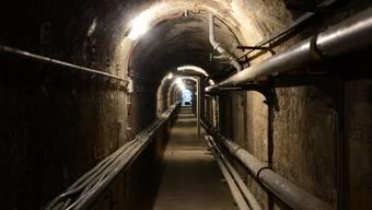 Untergrund unter dem Badischen Bahnhof, geheime Gänge der Deutschen aus dem Zweiten Weltkrieg