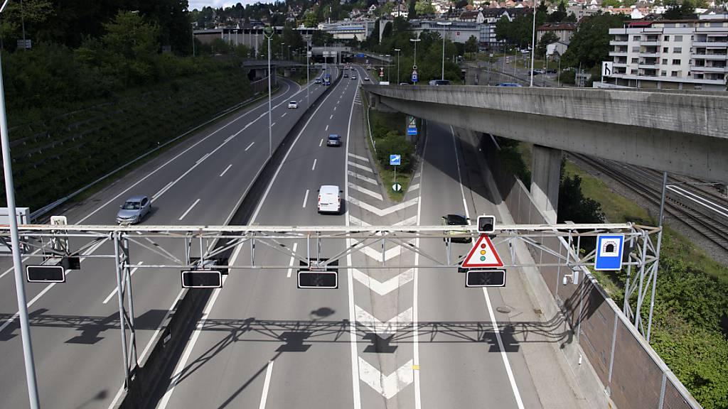 St.Galler Stadtautobahn nachts teilweise gesperrt