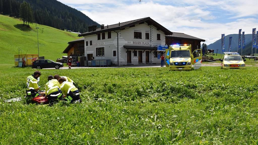 Der Fallschirmpilot verletzte sich beim Absturz schwer