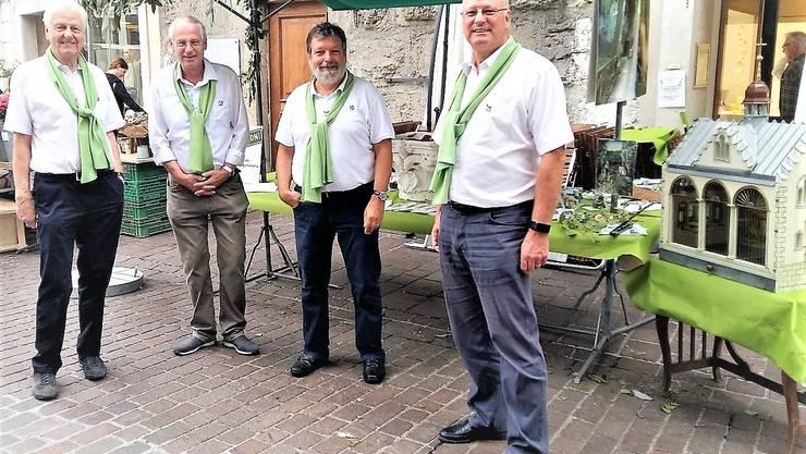 vlnr: Toni Saner Standdekorateur, Markus von Arx Aktuar, Roland Heim Präsident, Matthias Welter Webmaster