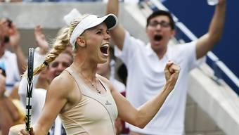 Der Siegesjubel der Caroline Wozniacki