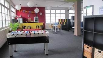 Der Jugendraum in Wohlen ist leer.