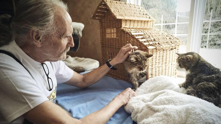 Günther Weber, Besitzer des Katzenasyls «Zur letzten Zuflucht»