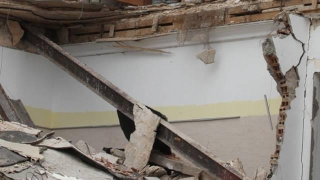 Zerstörtes Gebäude durch einen NATO-Angriff in Libyen (Symbolbild)