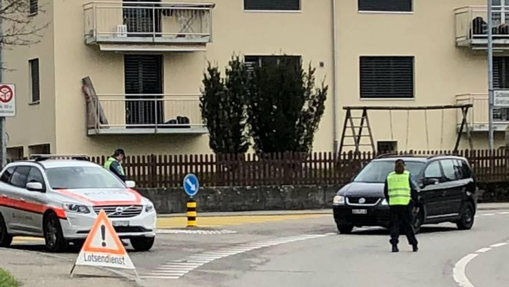 Polizeikontrolle in Kölliken.