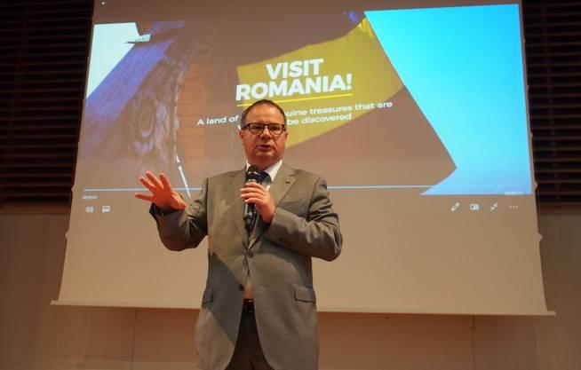 Der rumänische Botschafter wirbt für die Eu und sein Land